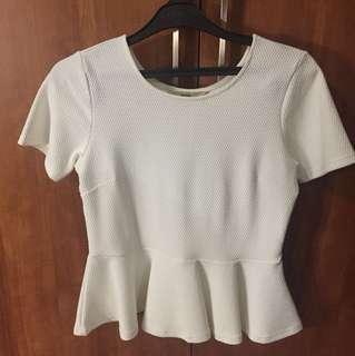 peplum white blouse