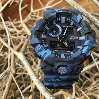 Authentic GA-700CM G-Shock Military Matte Camouflaged Blue Series! Limited Stock First Come First Served 😎👍