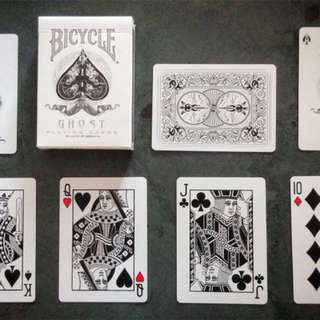 Bicycle discounted GHOST Playing Cards Black white