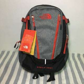 🎒North Face Single Shot Gray/Red