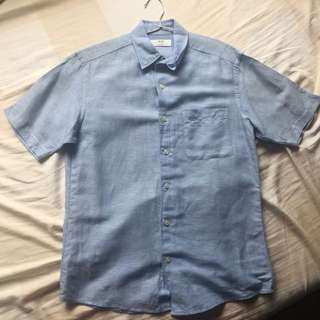 Uniqlo sky blue shirt