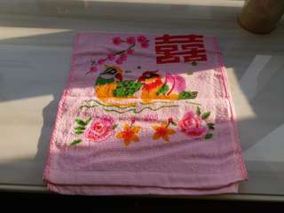 全新賀圍巾 囍字粉紅面巾 結婚用品 女家送給男家用。