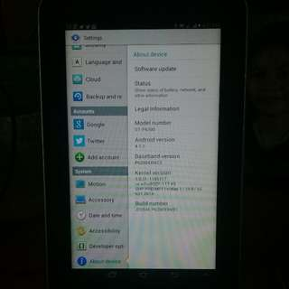 Original Samsung galaxy tablet 7.0 Plus no issue
