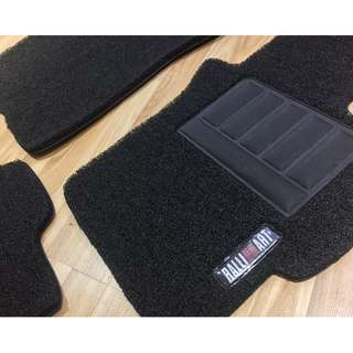 2007 TO 2017 MITSUBISHI LANCER EX GT OEM FITMENT CAR FLOOR MAT..BLACK PVC CARPET MAT RALLIART LOGO 5 PCS 20MM THICK COLOR AVAILABLE - RED, BLACK ,GREY ,BEIGE ,BROWN & BLUE...
