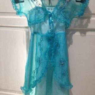 Blue dress princess