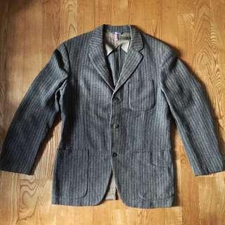 古著羊毛條紋西裝 日本製