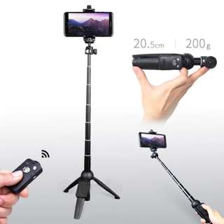 YUNTENG 9928 Wireless Bluetooth Remote Extendable Selfie Stick Monopod Tripod Phone Stand Holder Mount for iPhone Sumsang Android