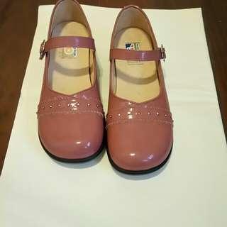 Aso真皮女童鞋8號