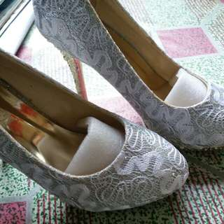 White Sparkling Shoes