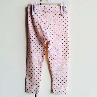 H&M legging motif strawberry size 12-18m
