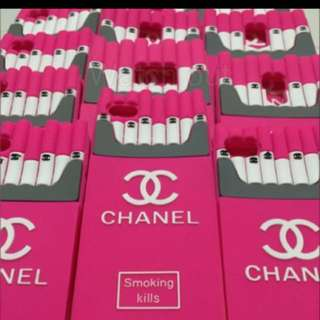 SALE!! Pink Chanel Cigarette smoking kills phone case Clearance