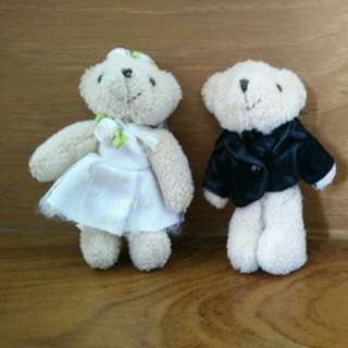 Wedding bear couple