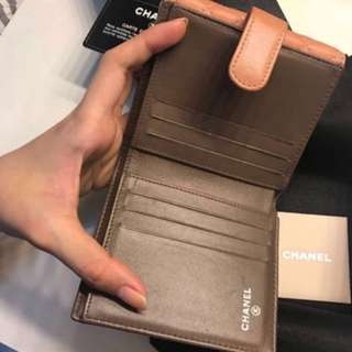 *CNY SALE* Chanel coral short wallet lambskin with gold hardware