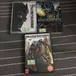Transformers 1-3 Movie DVD