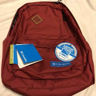 Columbia Backpack with Laptop Compartment - Red Velvet 25.L Capacity