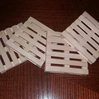 Mini Pallet Coasters (set of 4pcs)