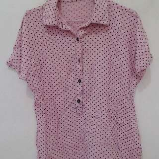 Blouse nevada polka pink