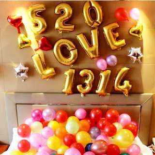 Letters Balloons Decor / Numbers Balloons