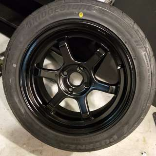 Te37v rim with tyres