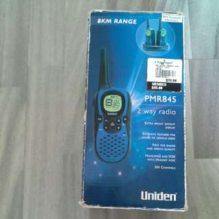 For Rent / Rental / Sell / Sale: Blue Uniden PMR845 8km 8 Km Travel Vacation Walkie Talkie Pair Set With Charger Rental