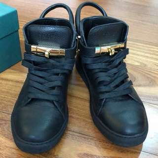 Buscemi 100mm Buckle High-top leather trainer (euro 41)