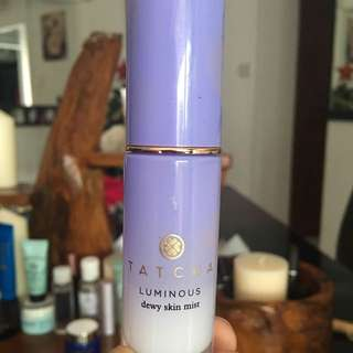 Tatcha dewy skin mist makeup setting spray japanese