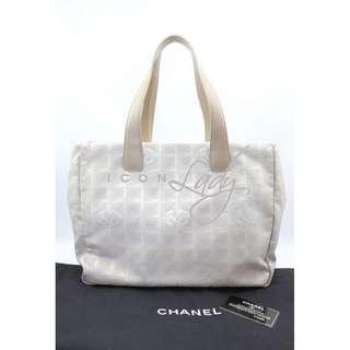 CHANEL New Travel Line 杏色帆布 購物袋 肩背袋 手袋