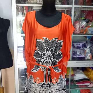 Blouse orange cuantik