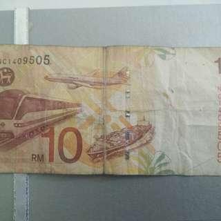 WANG KERTAS RM 10 (RARE)