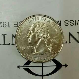 美元硬幣quarter dollar兩個