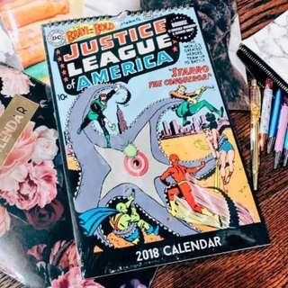 Typo 2018 Justice League Calendar