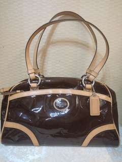 Coach burgundy Rare color handbag