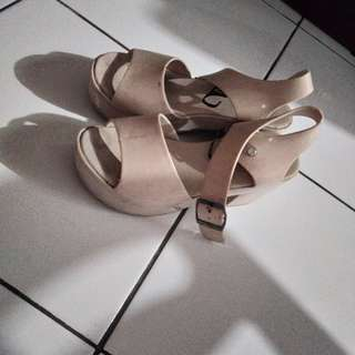 high heels jelly cream / nude