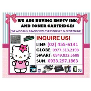BUYING OF EMPTY INK AND TONER CARTRIDGES