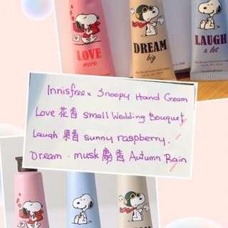 innisfree Korea直送 (Snoopy hand-cream) @$59