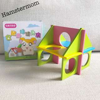 Hamster Wooden Puzzle Playground Toy Set
