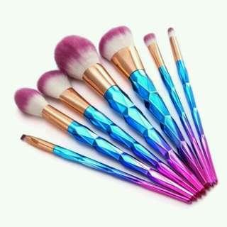 7pcs Diamond Unicorn Brush Set