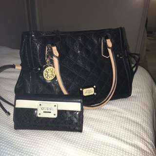 Genuine Guess Bag And Wallet