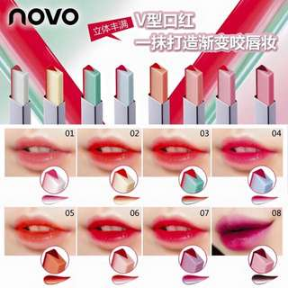 Novo double shade lipstick