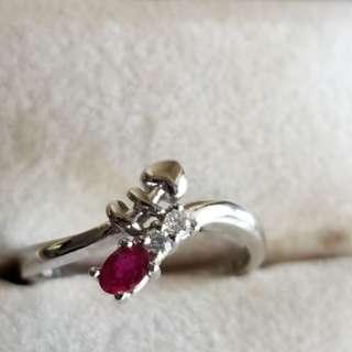 紅寶鑽石介指