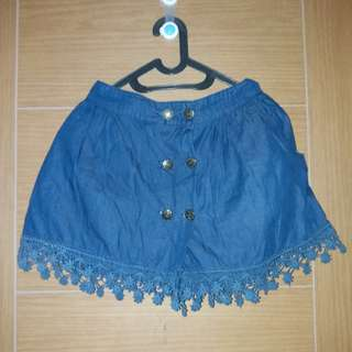 Rok Celana Denim Button Preloved