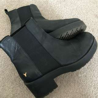 Windsor Smith black Eagar Boots