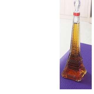 Eiffel Tower Shape Bottle Brandy Elise France