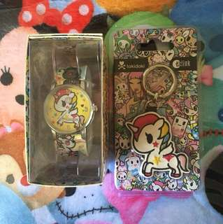 Tokidoki Stellina Watch and Ezlink Charm Bundle