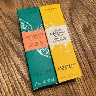👐🏻L'OCCITANE hand cream,30ml, 每支$50