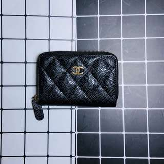 Chanel caviar skin coin case