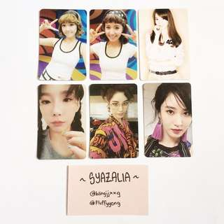 SNSD Official photocards