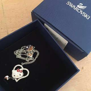 Swarovski hello kitty頸鏈