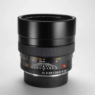Leica R 80mm 1.4