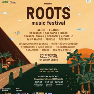 Looking for two (2) Up Fair Roots Tickets